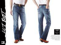 Men's LCJ Denim Bootcut Stretch Indie Retro Jeans 70s Medium Wash LC20 All Sizes