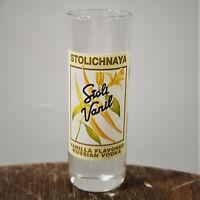 STOLICHNAYA VANIL Shooter Shot Glass Vanilla Flavored Russian Vodka