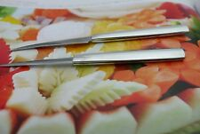 NEW  2 ALUMINUM  FLAT HANDLE KITCHEN CARVING KNIFE FRUIT VEGETABLE SOAP CUTTER