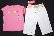 NWT GYMBOREE Baby Girls Social Butterfly Summer Outfit Top White Jean Sz 18 - 24