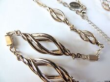 White House/Black Market Goldtone Chain, Rope Necklace/Baguette Crystals