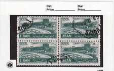 Lebanon used stamps mi#481 block of 4 1952