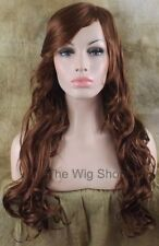 Long Wavy Strawberry Blonde 27 Red 29 Ginger Mix Wig Skin Top Side Part Kanekalo