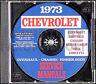 1973 Chevrolet CD Shop Manual Camaro Nova Corvette Impala Caprice Bel Air Chevy