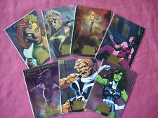 Marvel Masterpieces 2 2008 X7/9 Fleer Marvel Heroines 1:4.5 chase cards UDE VFN
