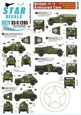 Star Decals 1/35 British Armoured Cars # 2. 35c1205