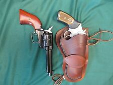 Western Leather Holster Ruger SP101 357/22 and 22 Cal. SA Revolver Dyed 2 Tone