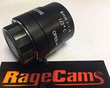 6mm C Mount Lens 70 Degree FOV Semi-Wide Manual Iris Glass Optics 3 Mega Pixels