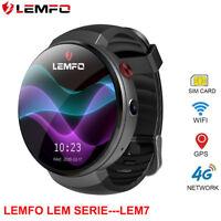 LEMFO LEM7 Reloj Inteligente 2018 Pedometer Bluetooth GPS WIFI for Android IOS