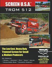 Equipment Brochure - Screen USA - TROM 512 - Trommel Screen (E3640)