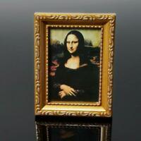 1/12 Puppenhaus Miniatur Malerei 19th Century Mona Foto Lisa D6M2 Neu Bild N8X0
