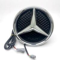For Mercedes Benz Illuminated Car Led Logo Emblem Grille White Light Twist Type