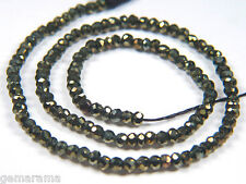 Premium Mystic Black Spinel Genuine Gemstones Faceted Rondelle Beads Full Strand