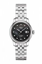 New Tissot Le Locle Automatic Diamond Dial Womens Steel Watch T0062071112600