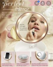 Avon Perfect LED Light Up Selfie Mirror Adjustable Portable With Magnification