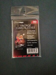 100ct. UltraPro Vintage Card Sleeves Ultra Clear Penny sleeves No PVC Acid Free