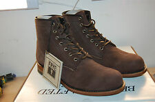 Frye Arkansas Mid Boot Made in U.S.A. Dark Brown Leather suedeNIB 9 medium Mens