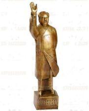 "Beautifully  Chinese First Chairman Mao Tse-tung Bronze Statue 13""H"