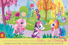My little pony birthday greeting cards invitations ebay my little pony girls birthday invitations we print or print yourself solutioingenieria Gallery