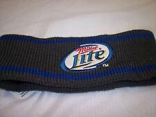 """""""Miller Lite""""   Head Bands  Grey and Blue  100% Acrylic"""