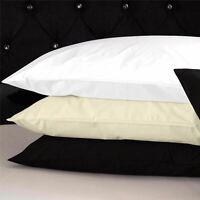 100% Cotton Satin Fitted Bed Sheets Pillow Cases Single Double King Size Bedding