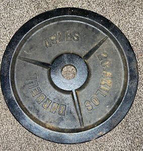 """ONE Olympic 45lb Pound 2"""" Olympic Plate / Weight Plate"""