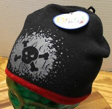 b6e8e930fa3 NWT BOYS 4-8 YOUTH BEN BERGER WINTER KNIT SKI HAT BLUE WITH SKULL