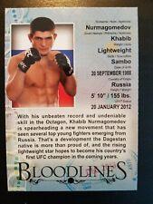 Topps ufc 2013 Bloodlines Khabib Nurmagomedov Bio Card Rookie Year