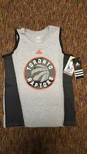 Lot of 10 NBA Toronto Raptors Boys Medium 5-6 Grey tank youth Adidas