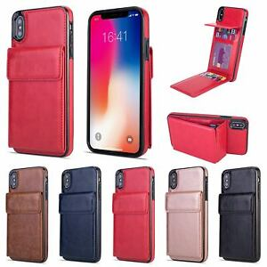 Leather Flip Stand Wallet Card Holder Case Cover For iPhone XS MAX XR 6/7/8 Plus