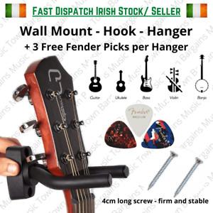 Guitar Hanger Wall Mount Hook Up Rack Holder Bracket Display Ukulele Bass Violin