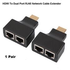 2X HDMI à double ports RJ45 CAT5 / 6 Réseaux Extender Adaptateur Câble Répéteur