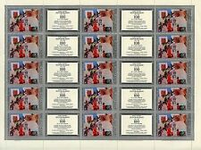 TIMBRE RUSSIA RUSSIE / FEUILLE N° 4521 **  15 TIMBRES / PEINTRE PETROV VODKINE