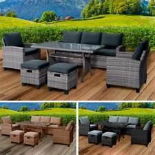 Poly Rattan Sitzgarnitur Gartenmöbel Essgruppe Lounge Sitzgruppe Garten DELIGHT