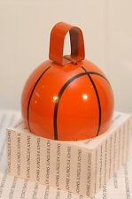 BASKETBALL COW BELLS NEW METAL BELL SHAPE OF BASKETBALL 3 INCHES~FREE SHIP IN US