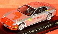 Ferrari 612 Scaglietti China Tour Car 2005 silver metallic 1:43 Ixo FER039