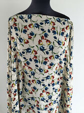 Vintage 30's Style Floral/Flower Poly Woven Light Crepe Dressmaking Fabric