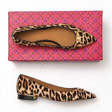 Tory Burch Gigi 20mm Pointy Toe Leopard Flats - Size 8.5 M
