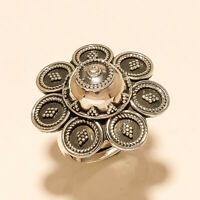 Antique Retro Vintage Flower Ring 925 Sterling Silver Women Handmade Jewelry New