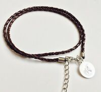 CHRISTMAS PERSONALISED MENS LEATHER WRAP BRACELET WITH ENGRAVED CHARM DADDY DAD