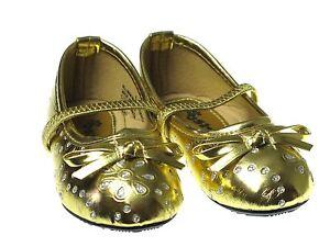 New Baby Girls Studded Rhinestone Ballerina Slip-On Flats Princess Dress Shoes
