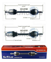 w//VTEC Engine Pair 2 Front LEFT /& RIGHT CV Axle Drive Shaft Assembly w//ABS for 1994-01 Acura Integra // 1999-96 Honda Civic Si Bodeman // 1993-97 Honda Civic Del Sol w//M.T.