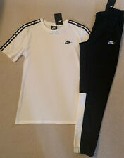 Mens Nike Track Bottoms/TShirt. New.Black/White. Size Medium