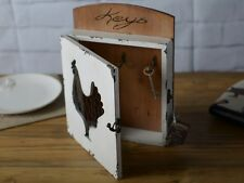FARMERS MARKET Shabby Chic HEN Wood & Chicken Wire KEY HOLDER