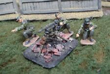 TQD GS28E 20mm Diecast WWII German Waffen SS MG42 Team. Field Caps+MG on Tripod
