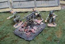 TQD GS28E 20mm Diecast WWII German Waffen SS MG42 Team. Field Caps+MG on Tripod