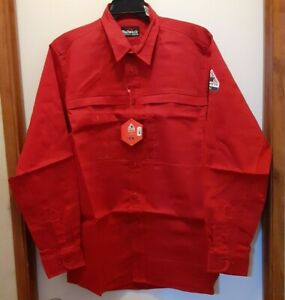 Bulwark FR iQ Series 2112  Flame Resistant Work Shirt Men's Large Red New