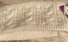 Ladies New Warm Knit Headband White