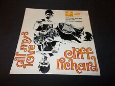 "CLIFF RICHARD All My Love 45 RPM EP 7"" Columbia IMPORT"