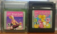 Barbie Magic Genie + Fashion Pack Nintendo Game Boy Color GB GBC Lot GBA Advance